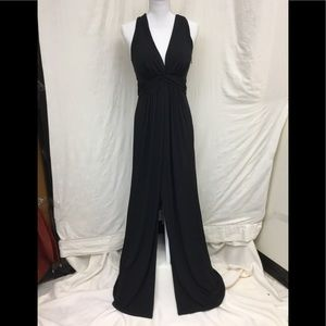 White House Black Market black gown with x back.
